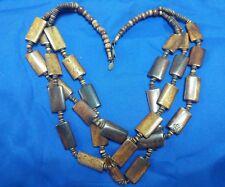 "Park Lane 24"" three strand brass tone estate necklace"