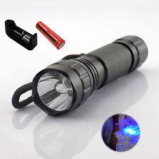 UV Ultraviolet Led Flashlight Backlight Torch18650 battery AC charger Cash Check