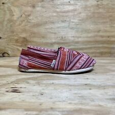 Toms Red Slip On Shoes Women's Size 6