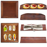 Wooden Dumpling Sushi Oblong Serving Tray Plate Salad Bread Dishes Napkin Holder