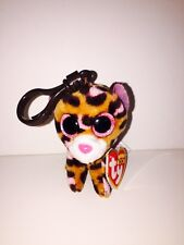 TY PATCHES LEOPARD BEANIE BOOS KEY CLIP, NEW W/TAG-SUPER CUTE-**IN HAND**