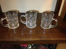 3 crystal mugs