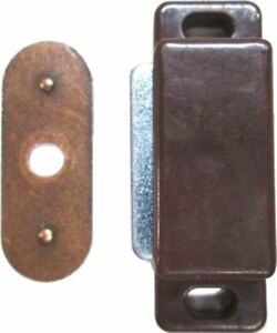 Brown Plastic Magnetic Catch with Fixed Strike Plate lock mailbox cabinet
