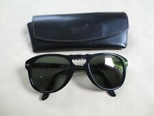 Persol black frame folding polarized sunglasses. 714 05/58. With case.