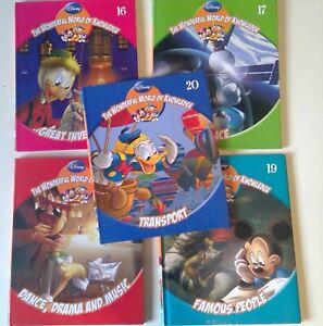 "DISNEY BOOKS x 5   ""THE WONDERFUL WORLD OF KNOWLEDGE"" ( BOOKS 16 - 20)"