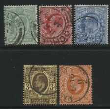 More details for 1911 ½d-4d  harrison perf 15x14 very fine used set of five. sg 279-86