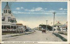 Ocean Bluffs Ma Ocean St. North c1920 Postcard
