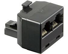 RJ45 Splitter Y-Verteiler 1M/2F Netzwerk Ethernet Patch Kupplung ISDN Adapter