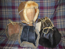 Handmade SHEARLING SHEEPSKIN Fur Bomber Aviator Trooper HAT Mens sz S M L XL