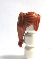 LEGO 1 perruque de cheveux pour femme fille figurine long orange ginger queue de cheval