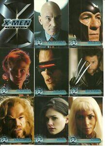 2000 Topps X-Men The Movie base set + 3 bonus wrappers