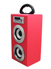 ALTAVOZ PORTATIL TORRE CAJA Bluetooth USB Radio FM SD/TF MP3 Inalambrico Rosa
