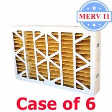 20x25x4 Air Filter MERV 11 Pleated by Glasfloss - Box of 6 - AC/Furnace Filters