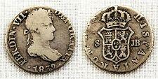 España - FERNANDO VII. 1/2 Real. 1832. Sevilla. Plata 1,4 g. VF-/MBC-. Escasa