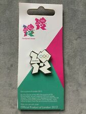 WHITE OLYMPIC LOGO PIN BADGE - London 2012 Olympic Games on Official Card