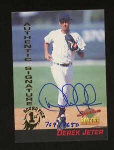 1994 Signature Rookies Derek Jeter New York Yankees RC HOF AUTO /8650