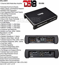 DS18 EXL-A3K1 3000 WATT MONOBLOCK CAR SUBWOOFER AMPLIFIER MONO 1 CHANNEL SUB AMP