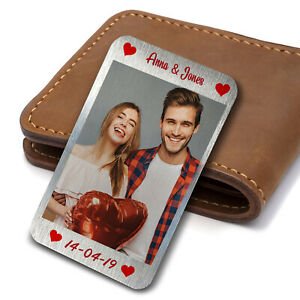 Valentines Anniversary Wedding Gift Wallet Insert Gift For Him Her Personalised