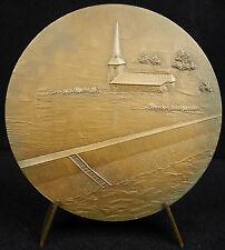 Médaille Lac du Der-Chantecoq l'église Michel Poniatowski Champaubert 1974 Medal