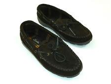 Clarks Moccasin Slipper Mens 11 Brown Leather Upper
