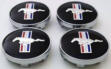 "Ford Mustang Black Pony 60mm Center Caps 2 3/8"" Hub Caps FITS BASE, GT, COBRA, R"