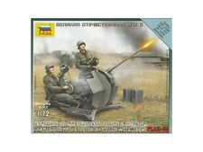 Zvezda GERMAN 20 mm Flak AA Gun & Crew Kit di Modello in Plastica-Scala 1/72 - 6117