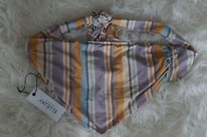 NWT Ellejay Womens Stacey Bikini Top Colorful Striped Bandeau XS  Made in USA