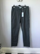 BNWT Men's Lyle & Scott Grey Technical Stretch Trousers, UK Size W34 X L32, Tagg
