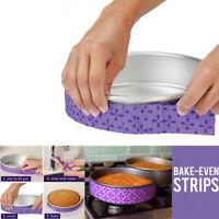 2Pcs Cake Pan Strips Bake Even Strip Belt Bake Even Moist Level Cake Baking Tool