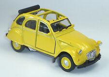 Citroen 2CV Ente Modellauto 1:34 WELLY Metall Spritzguss ca. 12cm gelb / offen