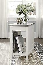 Ashley Furniture Diamenton Chairside End Table with USB Ports and Outlets - White