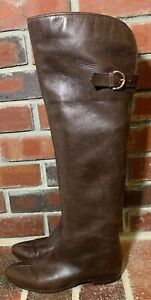 Sergio Rossi Brown Leather Over The Knee Riding Boots - Women's Size 37(EUR)