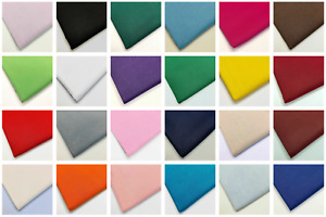 Plain 100% Cotton Fabric Material Quilting Metre 30 Colours 60 Inch