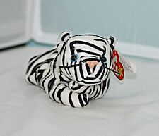 RARE Blizzard the Snow Tiger TY Beanie Baby style 4163, 10 errors