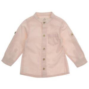 Baby Boys Shirt|Grandad Style Adjustable Sleeves | 6-12-18-24 Months 100%Cotton