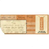 TINA TURNER Concert Ticket Stub AUSTIN TEXAS 10/27/00 TWENTY FOUR SEVEN TOUR