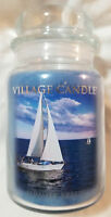 Village Candle SUMMER BREEZE Large 2-Wick Jar Scented Blue 22 oz Wax