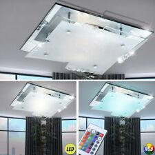 LED Kristall Decken Lampe Wohn Zimmer Chrom RGB Fernbedienung Leuchte dimmbar