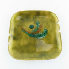 BOVANO MIDCENTURY ENAMEL ON COPPER Ashtray Great look and Design! RETRO