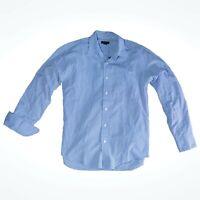 J. CREW Blue Striped Casual Button Down Oxford Shirt Men's Size Medium