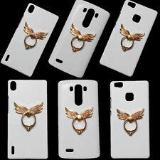 3D Bling Luxury Diamond Angel Wings Ring Holder Stand Back Hard Case for Phones