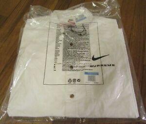 Supreme Nike Cotton Twill Shirt Size Medium White SS21 Supreme New York 2021 DS