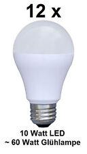 12 x 10 Watt LED Birne, E27, Warmweiß ~60 Watt Glühbirne