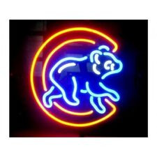 "New CHICAGO CUBS Logo Neon Light Sign 17""x14"""
