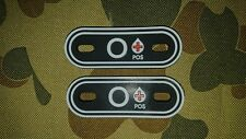 NEW O POSITIVE + BLOOD TYPE GROUP TACTICAL MORALE ARMY TAGS AUSTRALIA AUS SELLER
