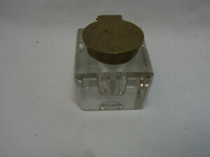 Antique German Glass Inkwell #BP