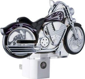 Motorcycle Night Light GE LED Plug-In Dusk-To-Dawn Sensor Auto On/Off Biker Gift