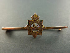 9CT GOLD THE MANCHESTER REGIMENT SWEETHEART BROOCH