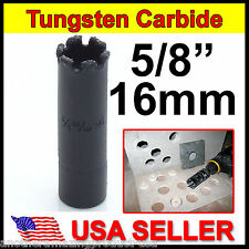 "5/8"" inch Carbide Hole Saw 16mm Tile Concrete Marble Slate Tungsten Fiberglass"