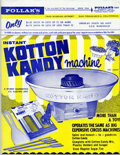 1960s Color Advertising Flier for the new Kotton Kandy Machine Cotton Candy